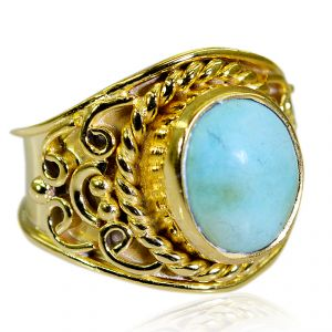 Riyo Turquoise 18k Gold Plating Claddagh Ring Sz 8.5 Gprtur8.5-82212