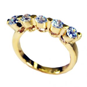 Riyo White Cz 18.kt Y Gold Plating Wedding Ring Jewelry Sz 8 Gprwhcz8-110009