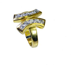 Riyo White Cz 18 Ct Gold Plated Beautiful Ring Sz 8 Gprwhcz8-110047