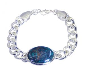 Riyo A Turquoise Alloy Silver Casual Bracelet Width 0.7 Inches (product Code - Mfbra-0044)
