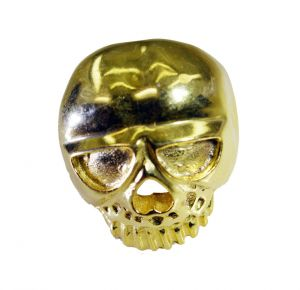 Riyo A Plain 18kt Gold Plated Skull Ring Gprskull60-280004