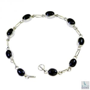 Riyo Black Onyx Custom Jewellery Silver Jewelry Bracelet Length 7.5 Inches - Product Code - (sbrabon-6018)