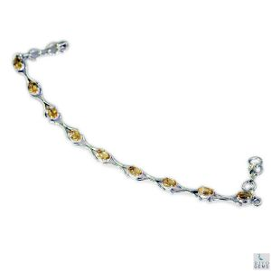 Riyo Citrine Affordable Jewelry Girls Silver Bracelet Length 7.5 Inches - Product Code - (sbracit-14015)