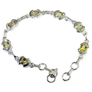 Riyo Lemon Quartz Fine Jewelry Silver Sister Bracelet Length 7.5 Inches - Product Code - (sbralqu-46001)