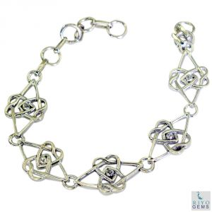 Riyo White Cz Funky Jewellery Silver Tennis Bracelet Length 7.5 Inches - Product Code - (sbrawhcz-110001)