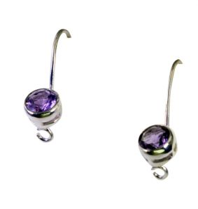 Riyo Amethyst High End Silver Jewelry Dangle Earring Length 1.5 Inches - Product Code - (seame-2057)