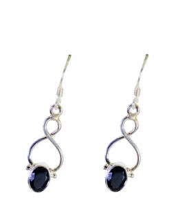 Riyo A Black Onyx 925 Solid Sterling Silver Handmade Earring Length 1.25 Inches - Product Code - (sebon-6050)
