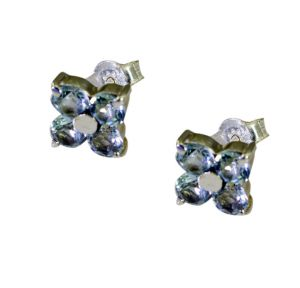 Riyo Blue Topaz Silver Birthstone Jewelry Silver Earring Length 0.5 Inches - Product Code - (sebto-10027)