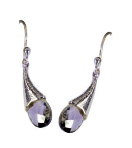 Riyo Green Amethyst Silver Jewelry Brands Fashion Earrings Length 2 Inches - Product Code - (segam-28006)