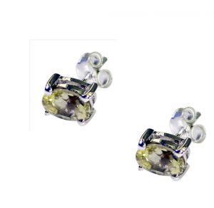 Riyo Lemon Quartz Wholesale Silver Jewellery Inspired Earring Length 2 Inches - Product Code - (selqu-46002)
