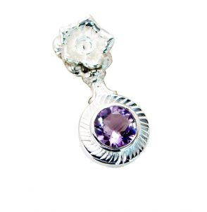 Riyo Amethyst Silver Jewellery Gifts Goofy Pendant _length 1 Inches (product Code - Spame-2038)