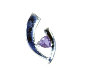 Riyo Amethyst Silver Jewelry Home Parties Love Pendants _length 1.2inches (product Code - Spame-2098)