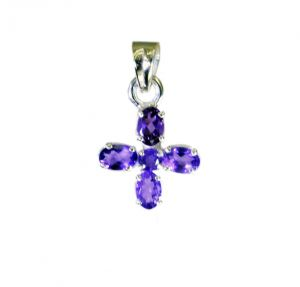 Riyo Amethyst Silver Jewelry Home Party Lucky Charm Pendants _length 1 Inches (product Code - Spame-2099)