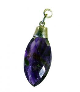 Riyo Amethyst Silver Jewelry Party Promise Pendants _length 1.2inches (product Code - Spame-2113)