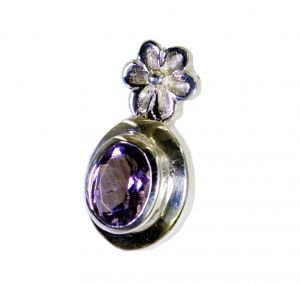 Riyo Purple Amethyst 925 Solid Sterling Silver One Of A Kind Pendant _length 1.5 Inches (product Code - Spame-2131)