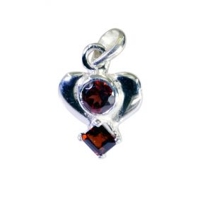 Riyo Garnet Girls Silver Jewellery Sun And Moon Pendants _length 0.7inches (product Code - Spgar-26045)
