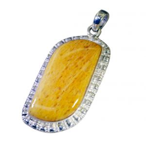 Riyo Jasper Silver Craft Jewellery Jasmine Pendants _length 2inches (product Code - Spjas-40019)