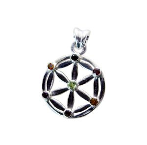 Riyo Gemstone Silver Jewelry Artists Sun And Moon Pendants _length 1 Inches (product Code - Spmul-52023)