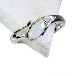 Riyo Aqua Chalcedony Silver Jewelry Supplier Claddagh Ring Sz 8 Srach8-4007