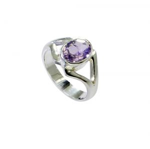 Riyo Amethyst Celebrity Silver Jewelry Wedding Bands Sz 4 Srame4-2149