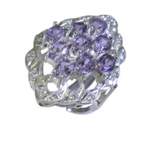 Riyo Amethyst Silver Jewelry Wholesale Contemporary Silver Ring Sz 5.5 Srame5.5-2006