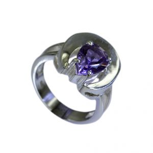 Riyo Amethyst Silver Jewelry Wholesale India Couple Ring Silver Sz 5.5 Srame5.5-2007