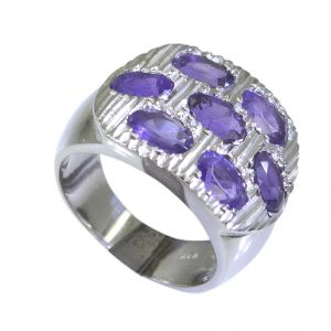 Riyo Amethyst Silver Jewelry Women Engagement Ring Silver Sz 6 Srame6-2013