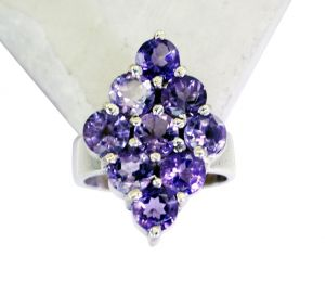 Riyo Amethyst Wholesale Jewelry Silver Wedding Ring Silver Sz 6 Srame6-2081