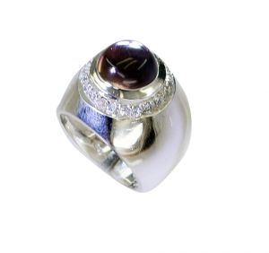 Riyo Amethyst Contemporary Design Your Own Silver Ring Sz 6 Srame6-2169