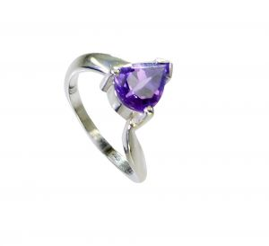 Riyo Amethyst Wholesale Silver Jewelry Cocktail Ring Sz 6.5 Srame6.5-2158