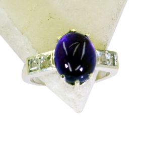 Riyo Amethyst 0.925 Solid Sterling Silver Beautiful Ring Sz 7 Srame7-2104