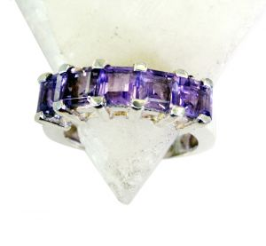 Riyo Amethyst 925 Solid Silver Sports Ring Jewelry Sz 7 Srame7-2107