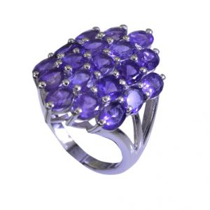 Riyo Amethyst Stylish Silver Jewellery Silver Ring Setting Sz 7.5 Srame7.5-2058