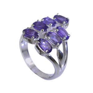Riyo Amethyst The Silver Company Silver Ring Settings Sz 7.5 Srame7.5-2059