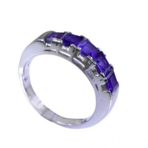 Riyo Amethyst Tribal Silver Jewellery Silver Ring Women Sz 7.5 Srame7.5-2062