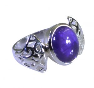 Riyo Purple Amethyst 925 Solid Sterling Silver Fashion Ring Srame80-2194