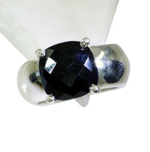 Riyo Black Onyx Fashion Silver Jewellery Silver Ring 925 Sz 8 Srbon8-6017