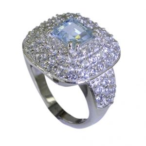Riyo Blue Topaz High End Silver Jewelry Wholesale Silver Ring Sz 7 Srbto7-10020