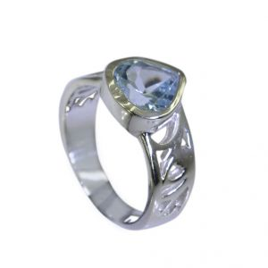 Riyo Blue Topaz Indian Silver Online Engagement Ring Sz 7 Srbto7-10030