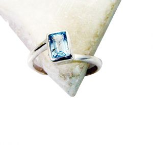 Riyo Blue Topaz Nice Silver Jewelry Cocktail Ring Sz 7 Srbto7-10054
