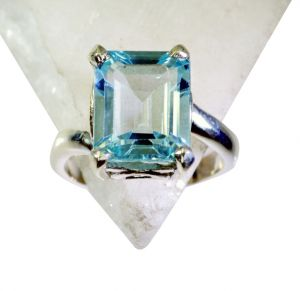 Riyo Blue Topaz Online Silver Shopping Thumb Ring Sz 7 Srbto7-10060