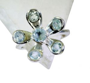 Riyo Blue Topaz Real Silver Jewelry Mothers Ring Sz 8 Srbto8-10079