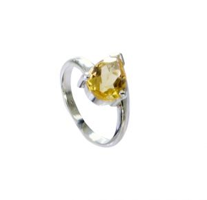 Riyo Citrine Silver Jewellery Tags Fashion Ring Sz 4.5 Srcit4.5-14073