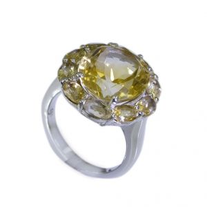 Riyo Citrine Silver Ethnic Jewellery Ladies Silver Ring Sz 6 Srcit6-14010