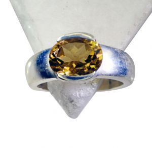 Riyo Citrine Silver Image Jewelry Silver Keeper Ring Sz 6 Srcit6-14028