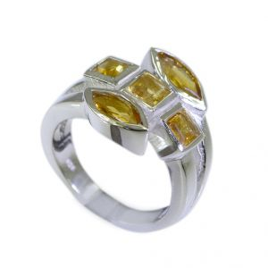 Riyo Citrine Silver Fashion Jewelry Man Silver Ring Sz 6.5 Srcit6.5-14013