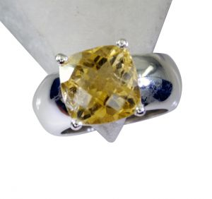 Riyo Citrine Silver Jewellery For Women Silver Ring Wholesale Sz 8 Srcit8-14049