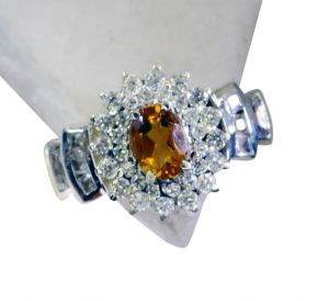Riyo Citrine Silver Jewellery Gifts Silver Sister Ring Sz 8 Srcit8-14051