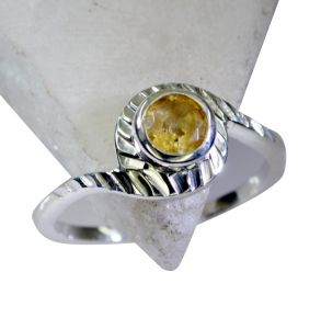 Riyo Citrine Silver Jewellery India Silver Star Ring Sz 8 Srcit8-14055