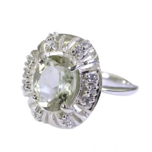 Riyo Green Amethyst Silver Jewellery Wholesale Classic Day Rings Sz 5 Srgam5-28001